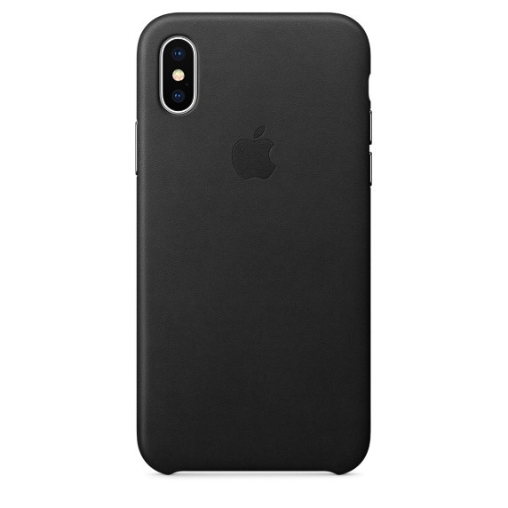 dca064c1110 iPhone X XS Leather Case - Black | My Phone Case World