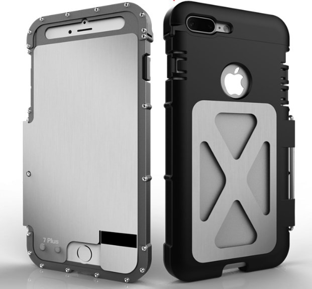 new style d49a9 f2675 Armor King Metal Flip Case for iPhone 7 / 8 Plus