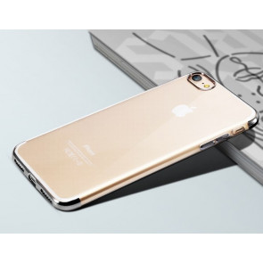 Clear Thin Metal TPU Case for iPhone 7
