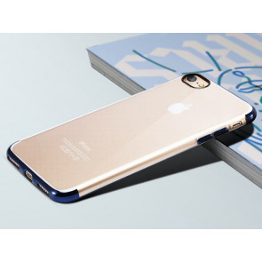 Clear Thin Metal TPU Case for iPhone 7 Plus