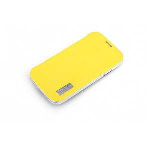 Rock Elegant Slide Flip Lemon Yellow Case for Galaxy S4