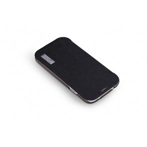 Rock Elegant Slide Flip Black Case for Galaxy S4