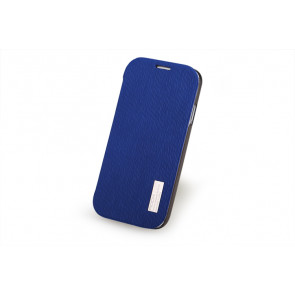 Rock Elegant Slide Flip Lake Blue Case for Galaxy S4