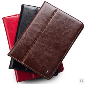 Elegant Folio Real Leather Wallet Flip Case and Stand for iPad Air