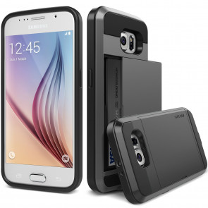 Verus Dark Silver Galaxy S6 Case Damda Slide Series