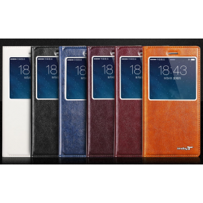 Kindtoy HD Window View Flip iPhone 6 Plus 5.5 inches Leather Case with Suction Cup