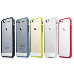 Rock Bumper With Clear Back Apple Logo Case for iPhone 6 Plus