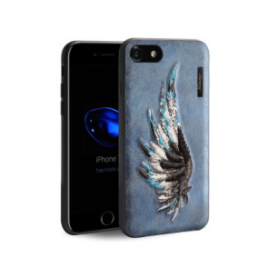 Embossed Wing Leather Case for iPhone X