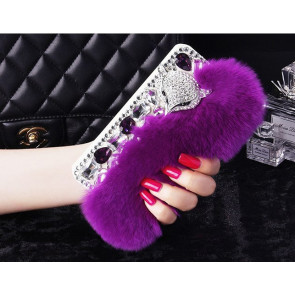 Fur Bling Rhinestone Case for iPhone 6 6s