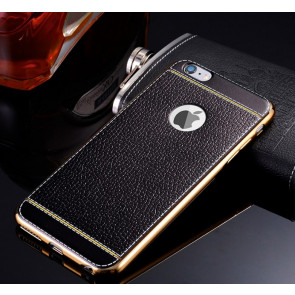 Metal and Leather Elegant Case for iPhone 7