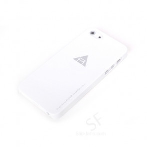 Rock Naked Shell Series Back Cover Snap Case for iPhone 5 - White