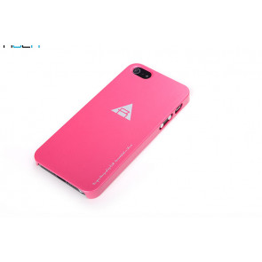 Rock Naked Shell Series Back Cover Snap Case for iPhone 5 - Rose Red