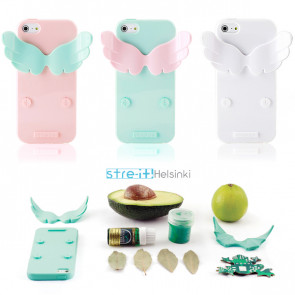 Stre-It Helsinki Devil and Angel Stand Cotton Candy iPhone 5 5s Silicone Jelly Case