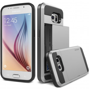 Verus Satin Silver Galaxy S6 Case Damda Slide Series